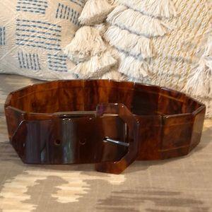 Accessories - Vintage resin tortoise belt